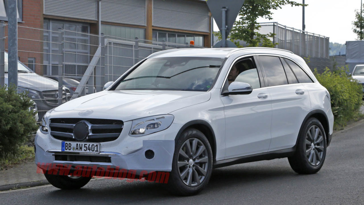Mercedes GLC Spotted Nearly Nude Ahead Of Tomorrow's Reveal