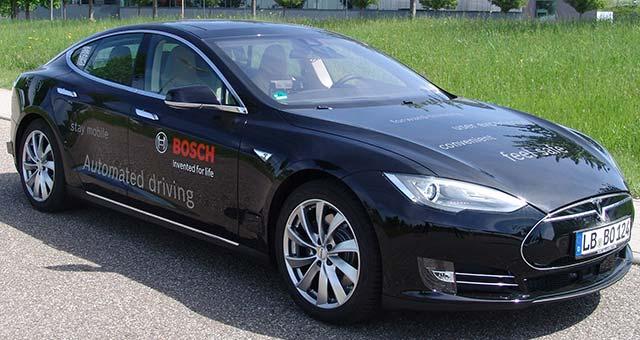 Bosch Develops Autonomous Driving Tech for Tesla Model S