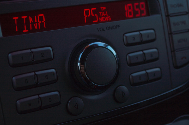 Silver Car Radio