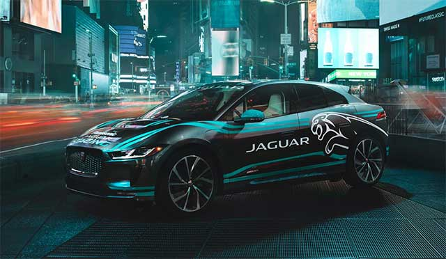 Panasonic Jaguar Racing And Jaguar I-Pace Visit New York Ahead Of Final Rounds Of The Formula E Championship